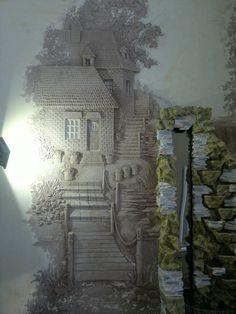 Ceiling Murals, Wall Murals, Wall Sculptures, Sculpture Art, Cement Art, Plaster Art, Clay Art Projects, Garage Art, Stencil Painting