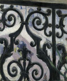 View Seen Through a Balcony  Artist: Gustave Caillebotte Year: 1880 Type: Oil on canvas