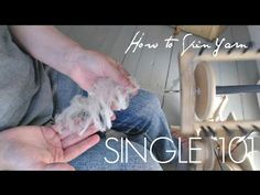 How to Spin Yarn from Wool for Beginners - YouTube