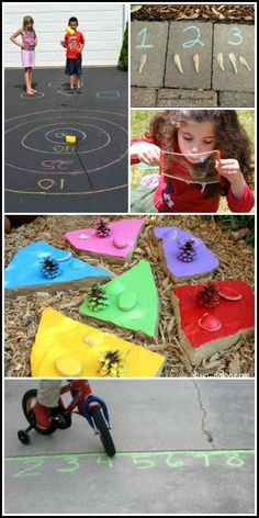 20+ Ideas for outdoor learning.  Make learning fun and help kids learn through play all summer long with these fantastic games and activities.