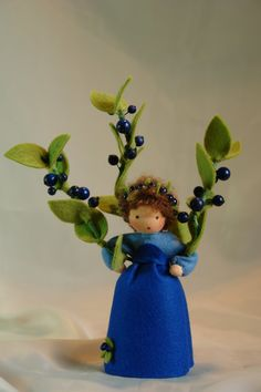 Blueberry Flower Child Waldorf Inspired by KatjasFlowerfairys