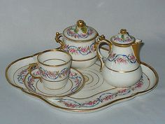 Ancien Service A The Egoiste Epoque Napoleon 3 Style Louis Xvi Porcelaine Paris