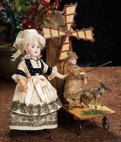 The Lifelong Collection of Berta Leon Hackney: 246 French Bisque Doll by Steiner in Original Traditional Folklore Costume of Brittany