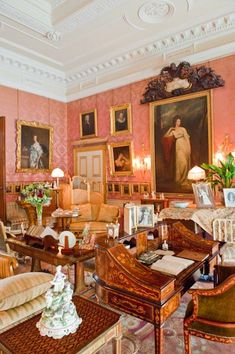 Drawing room, Kingston Lacy manor house