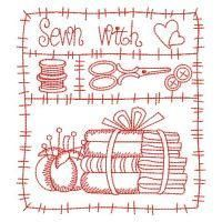 Redwork I Love Sewing