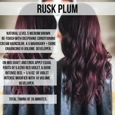 PLUM(p) up your hair with great waves and amazing color.