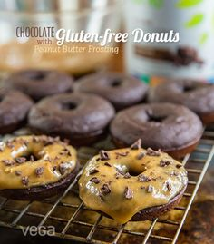 These soft, cake-like gluten-free protein donuts are not only moist and delicious; they also sneak in 6 servings of greens, protein, vitamin and minerals in every batch!