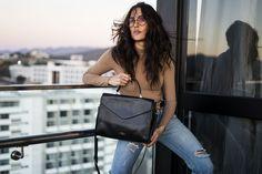 Street style shot of the Maida bag International Brands, Leather Handbags, Leather Backpack, Street Style, Elegant, Design, Fashion, Classy, Moda