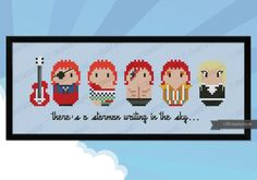David Bowie Outfits parody PDF cross stitch by cloudsfactory