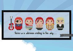 David Bowie Outfits parody PDF cross stitch by cloudsfactory