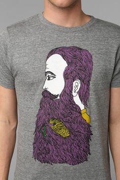 Bearded Man Tee #urbanoutfitters