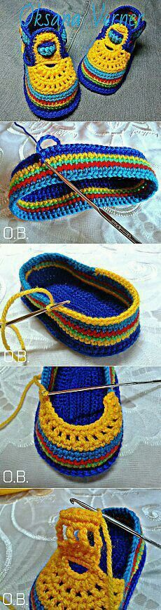 """[ """"Find and save knitting and crochet schemas, simple recipes, and other ideas collected with love."""" ] #<br/> # #Crochet #Baby,<br/> # #Crochet #Ideas,<br/> # #Kapcie,<br/> # #Magic #Art,<br/> # #Crocheted #Slippers,<br/> # #The #Bright,<br/> # #Bright #Colors,<br/> # #Baby #Shoes,<br/> # #Posts<br/>"""