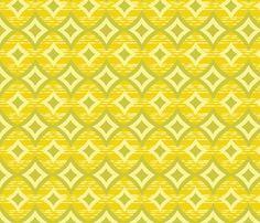 Bohemia-Diamonds-Yellow & Green - bohemiangypsyjane - Spoonflower