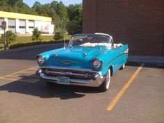Random beautiful Chevy Bel Air found at the local Walgreens. Someone's enjoying a beautiful spring day with the top down.