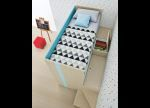 Battistella Lila Bunk Bed with Desk - Contemporary Bunk Beds From Italy