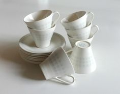 Set of Figgjo Flint Teacups and Saucers by SabineVintageHome, $48.00
