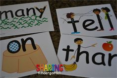 Check out these AMAZING sight word cards