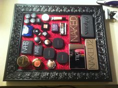 My magnetic makeup board! =)