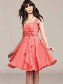 short chiffon bridesmaid dresses. I love the style of this one.