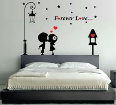 """giant wall stickers for boys bedroom. Click Visit link to read more - Wall Decals: The Perfect """"Stick-on"""" Design. Simple Wall Paintings, Wall Painting Decor, Diy Wall Decor, Boys Wall Stickers, Wall Decor Stickers, Wall Decals, Bedroom Wall, Bedroom Decor, Peacock Wall Art"""