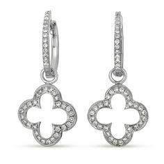 Pretty diamond earrings.  E7750WG by S. Kashi & Sons. www.russellandballard.com