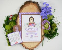 2a51f90af16d5 Hedgehog Party Invite from a Woodland Hedgehog Birthday Party on Kara s  Party Ideas