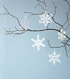 Handmade Crochet Snowflake Decoration - christmas decorations