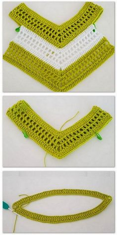 Diy Crafts - CROCHET,DIY-Modern And Latest Crochet Pattern Ideas - Diy & Craft So what will be different, ladies, if you say how these knitting nar Crochet Baby Bibs, Crochet Yoke, Crochet Girls, Crochet Baby Clothes, Crochet Poncho, Crochet Stitches, Diy Crafts Crochet, Crochet Projects, Knitting Patterns