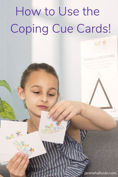 Welcome back to the Calm and Connected Podcast! The focus of today's episode is the Coping Cue Cards Discovery Deck, and how to use it. Anger Coping Skills, Coping Strategies For Stress, Coping With Stress, Elementary School Counseling, School Counselor, Elementary Schools, Cue Cards, Social Emotional Development, Counseling Activities