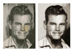before and after-photo restoration - RJN Photography -- Rebecca Nagy