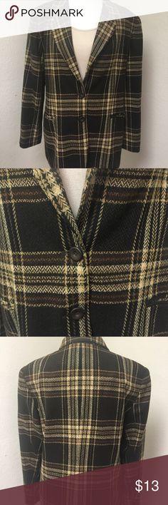 Worthington Blazer Warm, plaid blazer. Great for winter. In like new condition! Very nice. Item #46. Worthington Jackets & Coats Blazers