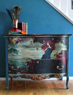 Antique Serpentine Dresser  RESERVED FOR CHRISTINA
