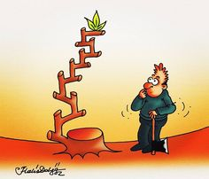 Kim kazanacak? #karikatür #mizah #cartoon #humour #metafor #methapor #drawing #ink #book #kitap #çevre #ecology #caricature #illustration #Düşünmek #yeşil #green #greenenergy