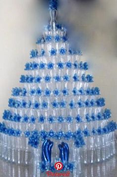 DIY Plastic Bottle Garden Projects & Ideas: Collection of plastic bottle herbs, vegetables and flower gardening, water irrigation and Diy Christmas Angel Ornaments, Mannequin Christmas Tree, Recycled Christmas Tree, Outdoor Christmas Decorations, Christmas Centerpieces, Christmas Angels, Christmas Crafts, Christmas Christmas, Christmas Wreaths