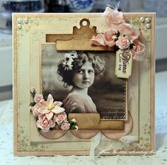 Great idea for a vintage photo....Grandma Langes picture age 17 Anne's paper fun: Wild Orchid Challenge