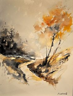 watercolor 212152, painting by artist ledent pol