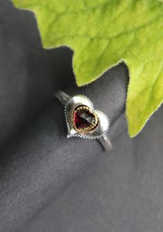 Heart Ring, Rings, Silver, Jewelry, Dirndl, Valentines, Heart, Red, Jewlery