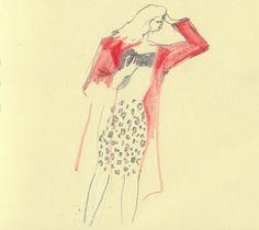 First Hand illustrator Hannah Simpson at London Fashion Week