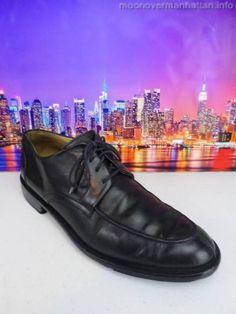 Mens shoes MARTIN DINGMAN black leather ITALY split toe Dress Oxfords sz 11 M #Oxfords