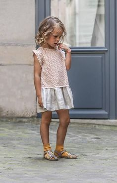 Sweet little girls dress.  Looks like a dress that would get so much wear. #girlsfashion