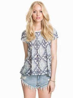Caribou S/S Blouse - Odd Molly - Blue - Blouses & Shirts - #