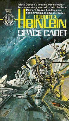 Space Cadet - Robert Heinlein, cover by Darrell K. Sci Fi Novels, Sci Fi Books, Fiction Novels, Pulp Fiction, Comic Books, Science Fiction Romane, Science Fiction Books, Arte Sci Fi, Sci Fi Art