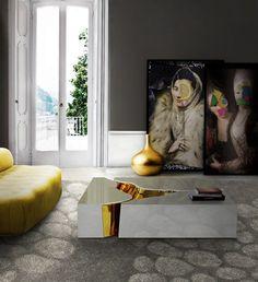 How to include white pieces in a contemporary decoration| Lapiaz white center table by Boca do Lobo | www.bocadolobo.com/ #contemporarydesign #contemporarydecor