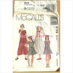 McCalls 8129 Sewing Pattern Girls Jumpsuit Romper Dress Plus Size 8.5 16.5 Uncut 023795812924 on eBid Canada