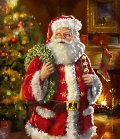 Santa Claus, St. Nick, Father Time, Kris Kringle #Santa ~~