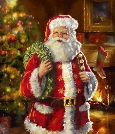 Santa Claus, St. Nick, Father Time, Kris Kringle #Santa ~~