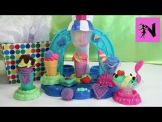 Play Doh Ice Cream Maker Sweet Shoppe Food Playset Disney Frozen Anna Surprise Toys - YouTube