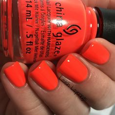 China Glaze Electric Nights Collection - Red-y To Rave