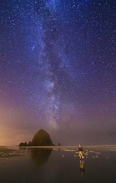 Milky Way - Cannon Beach Oregon.. photo by Bill Ratcliff.
