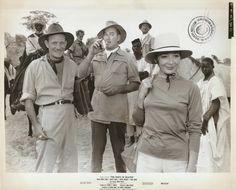 "JULIETTE GRECO, ERROL FLYNN & TREVOR HOWARD in ""The Roots of Heaven"" Orig. 1958"